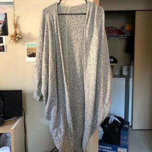 Long speckled gray cardigan